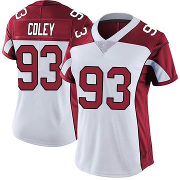 Women's Nike Arizona Cardinals Trevon Coley White Vapor Untouchable Jersey - Limited