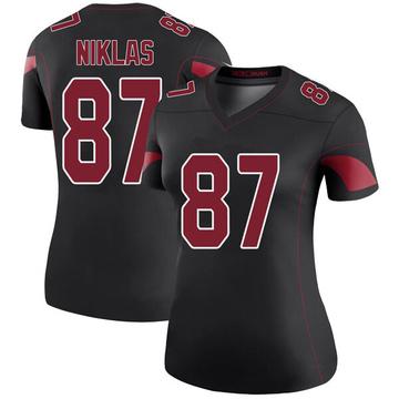 Women's Nike Arizona Cardinals Troy Niklas Black Color Rush Jersey - Legend