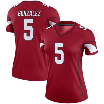 Women's Nike Arizona Cardinals Zane Gonzalez Cardinal Jersey - Legend