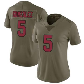 Women's Nike Arizona Cardinals Zane Gonzalez Green 2017 Salute to Service Jersey - Limited