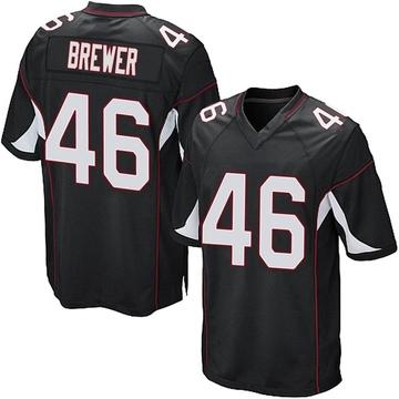 Youth Nike Arizona Cardinals Aaron Brewer Black Alternate Jersey - Game