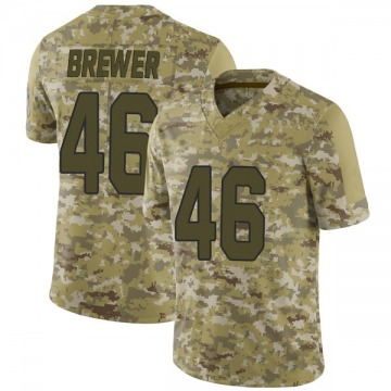 Youth Nike Arizona Cardinals Aaron Brewer Camo 2018 Salute to Service Jersey - Limited