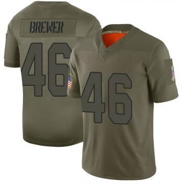 Youth Nike Arizona Cardinals Aaron Brewer Camo 2019 Salute to Service Jersey - Limited