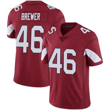 Youth Nike Arizona Cardinals Aaron Brewer Cardinal 100th Vapor Jersey - Limited