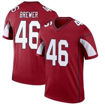 Youth Nike Arizona Cardinals Aaron Brewer Cardinal Jersey - Legend