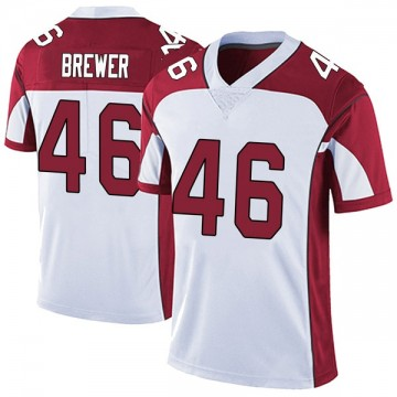 Youth Nike Arizona Cardinals Aaron Brewer White Vapor Untouchable Jersey - Limited