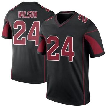 Youth Nike Arizona Cardinals Adrian Wilson Black Color Rush Jersey - Legend