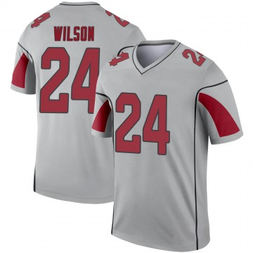 Youth Nike Arizona Cardinals Adrian Wilson Inverted Silver Jersey - Legend