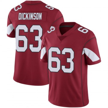 Youth Nike Arizona Cardinals Andrew Dickinson Cardinal 100th Vapor Jersey - Limited