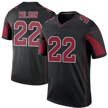 Youth Nike Arizona Cardinals Bejour Wilson Black Color Rush Jersey - Legend