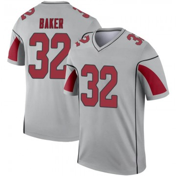 Youth Nike Arizona Cardinals Budda Baker Inverted Silver Jersey - Legend
