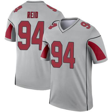 Youth Nike Arizona Cardinals Caraun Reid Inverted Silver Jersey - Legend
