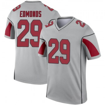 Youth Nike Arizona Cardinals Chase Edmonds Inverted Silver Jersey - Legend