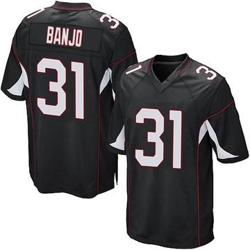 Youth Nike Arizona Cardinals Chris Banjo Black Alternate Jersey - Game