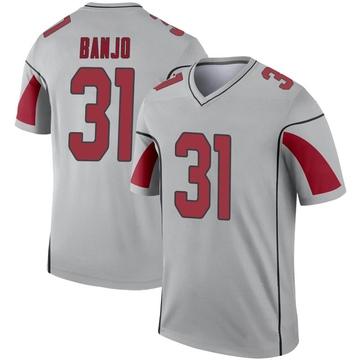 Youth Nike Arizona Cardinals Chris Banjo Inverted Silver Jersey - Legend