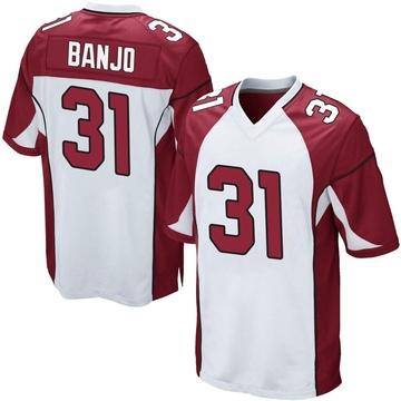 Youth Nike Arizona Cardinals Chris Banjo White Jersey - Game