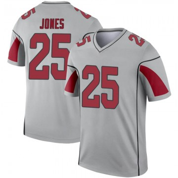 Youth Nike Arizona Cardinals Chris Jones Inverted Silver Jersey - Legend