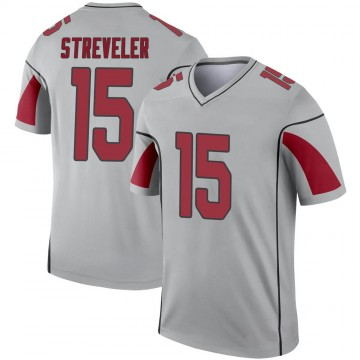 Youth Nike Arizona Cardinals Chris Streveler Inverted Silver Jersey - Legend