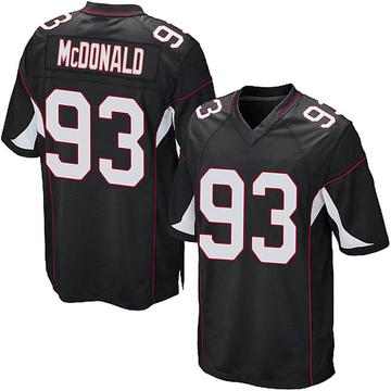 Youth Nike Arizona Cardinals Clinton McDonald Black Alternate Jersey - Game