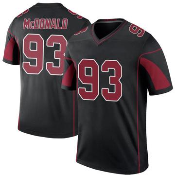 Youth Nike Arizona Cardinals Clinton McDonald Black Color Rush Jersey - Legend