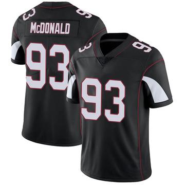 Youth Nike Arizona Cardinals Clinton McDonald Black Vapor Untouchable Jersey - Limited