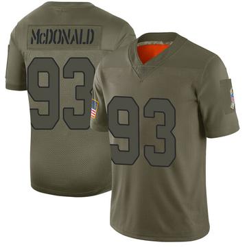 Youth Nike Arizona Cardinals Clinton McDonald Camo 2019 Salute to Service Jersey - Limited