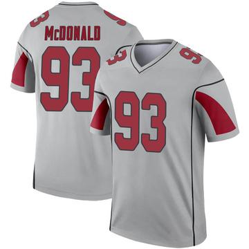 Youth Nike Arizona Cardinals Clinton McDonald Inverted Silver Jersey - Legend