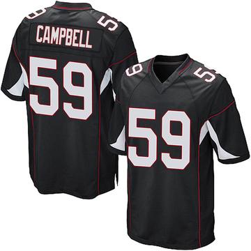 Youth Nike Arizona Cardinals De'Vondre Campbell Black Alternate Jersey - Game