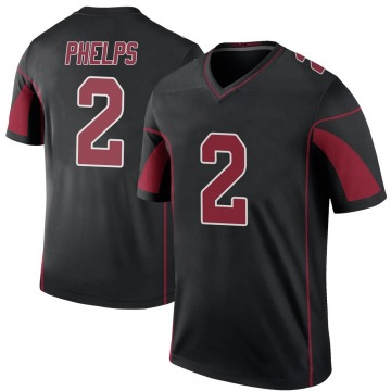 Youth Nike Arizona Cardinals Devin Phelps Black Color Rush Jersey - Legend