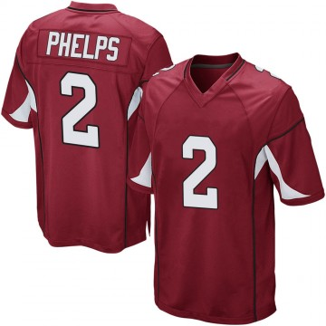 Youth Nike Arizona Cardinals Devin Phelps Cardinal Team Color Jersey - Game