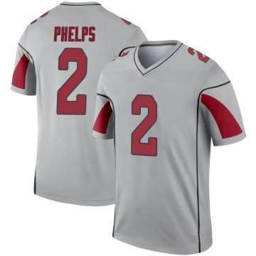 Youth Nike Arizona Cardinals Devin Phelps Inverted Silver Jersey - Legend