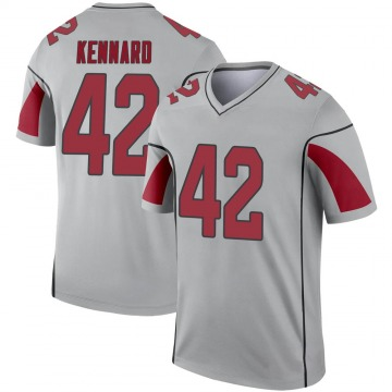 Youth Nike Arizona Cardinals Devon Kennard Inverted Silver Jersey - Legend