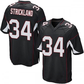 Youth Nike Arizona Cardinals Dontae Strickland Black Alternate Jersey - Game
