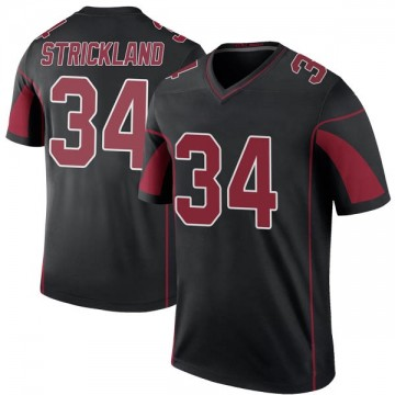 Youth Nike Arizona Cardinals Dontae Strickland Black Color Rush Jersey - Legend