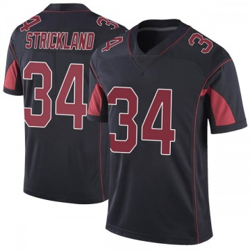 Youth Nike Arizona Cardinals Dontae Strickland Black Color Rush Vapor Untouchable Jersey - Limited