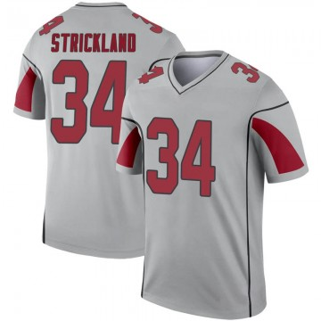 Youth Nike Arizona Cardinals Dontae Strickland Inverted Silver Jersey - Legend