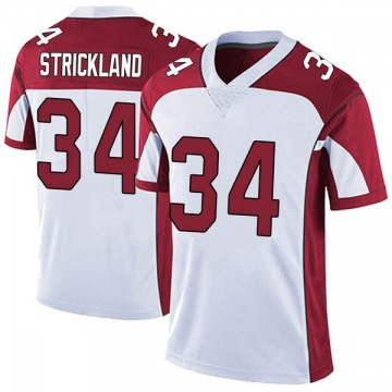 Youth Nike Arizona Cardinals Dontae Strickland White Vapor Untouchable Jersey - Limited