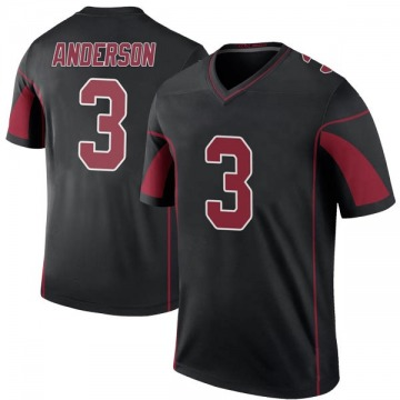 Youth Nike Arizona Cardinals Drew Anderson Black Color Rush Jersey - Legend