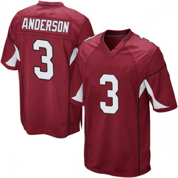 Youth Nike Arizona Cardinals Drew Anderson Cardinal Team Color Jersey - Game