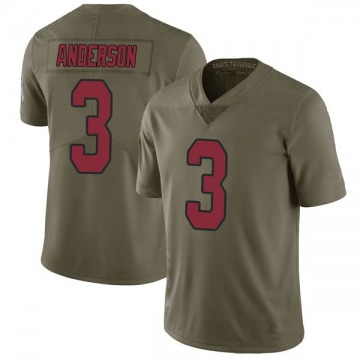 Youth Nike Arizona Cardinals Drew Anderson Green 2017 Salute to Service Jersey - Limited