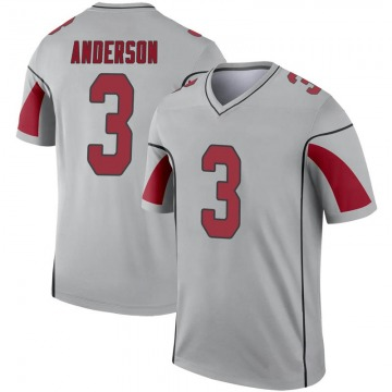 Youth Nike Arizona Cardinals Drew Anderson Inverted Silver Jersey - Legend