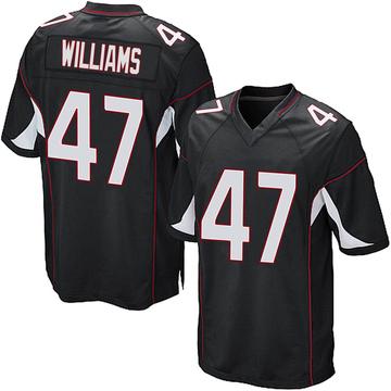 Youth Nike Arizona Cardinals Drew Williams Black Alternate Jersey - Game