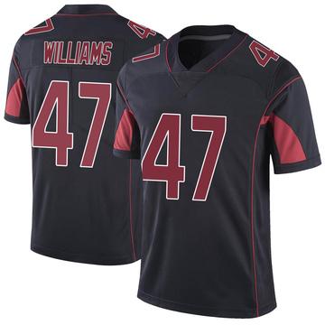 Youth Nike Arizona Cardinals Drew Williams Black Color Rush Vapor Untouchable Jersey - Limited