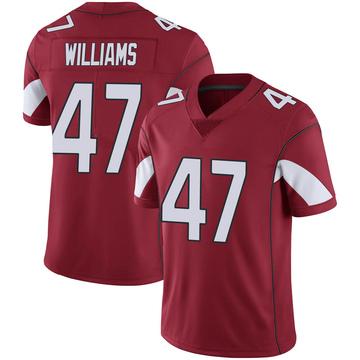 Youth Nike Arizona Cardinals Drew Williams Cardinal 100th Vapor Jersey - Limited