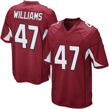 Youth Nike Arizona Cardinals Drew Williams Cardinal Team Color Jersey - Game