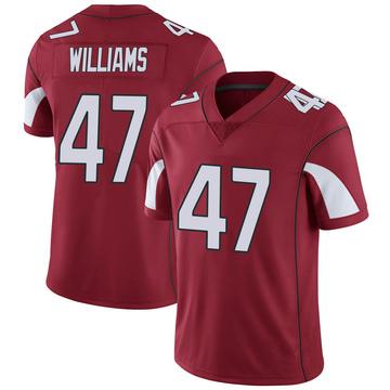 Youth Nike Arizona Cardinals Drew Williams Cardinal Team Color Vapor Untouchable Jersey - Limited