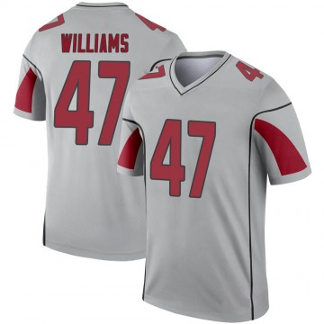 Youth Nike Arizona Cardinals Drew Williams Inverted Silver Jersey - Legend