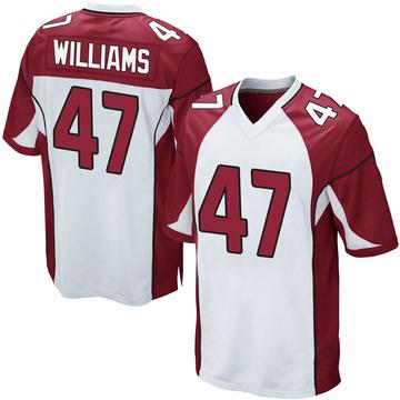 Youth Nike Arizona Cardinals Drew Williams White Jersey - Game