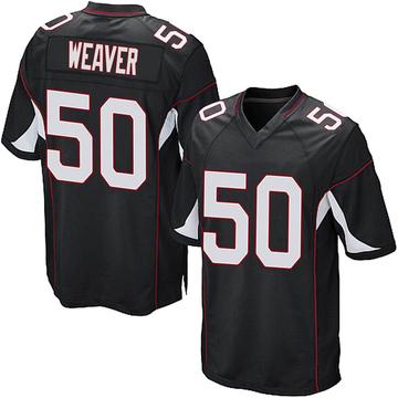 Youth Nike Arizona Cardinals Evan Weaver Black Alternate Jersey - Game
