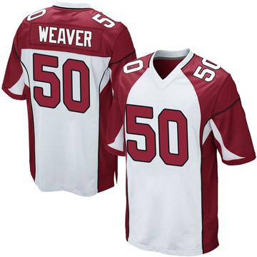 Youth Nike Arizona Cardinals Evan Weaver White Jersey - Game